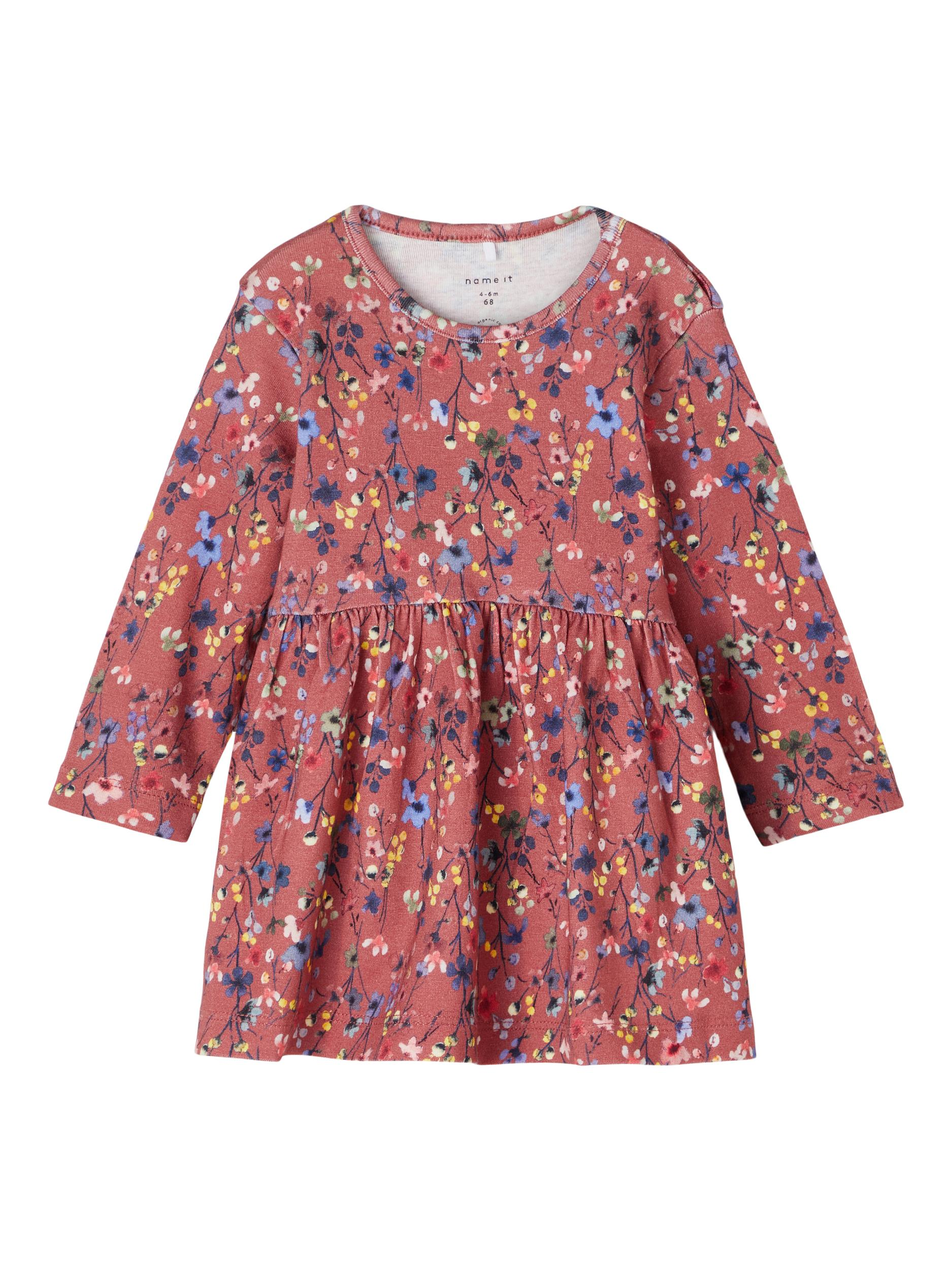 Blumenprint Kleid NBF TESSIE LS DRESS