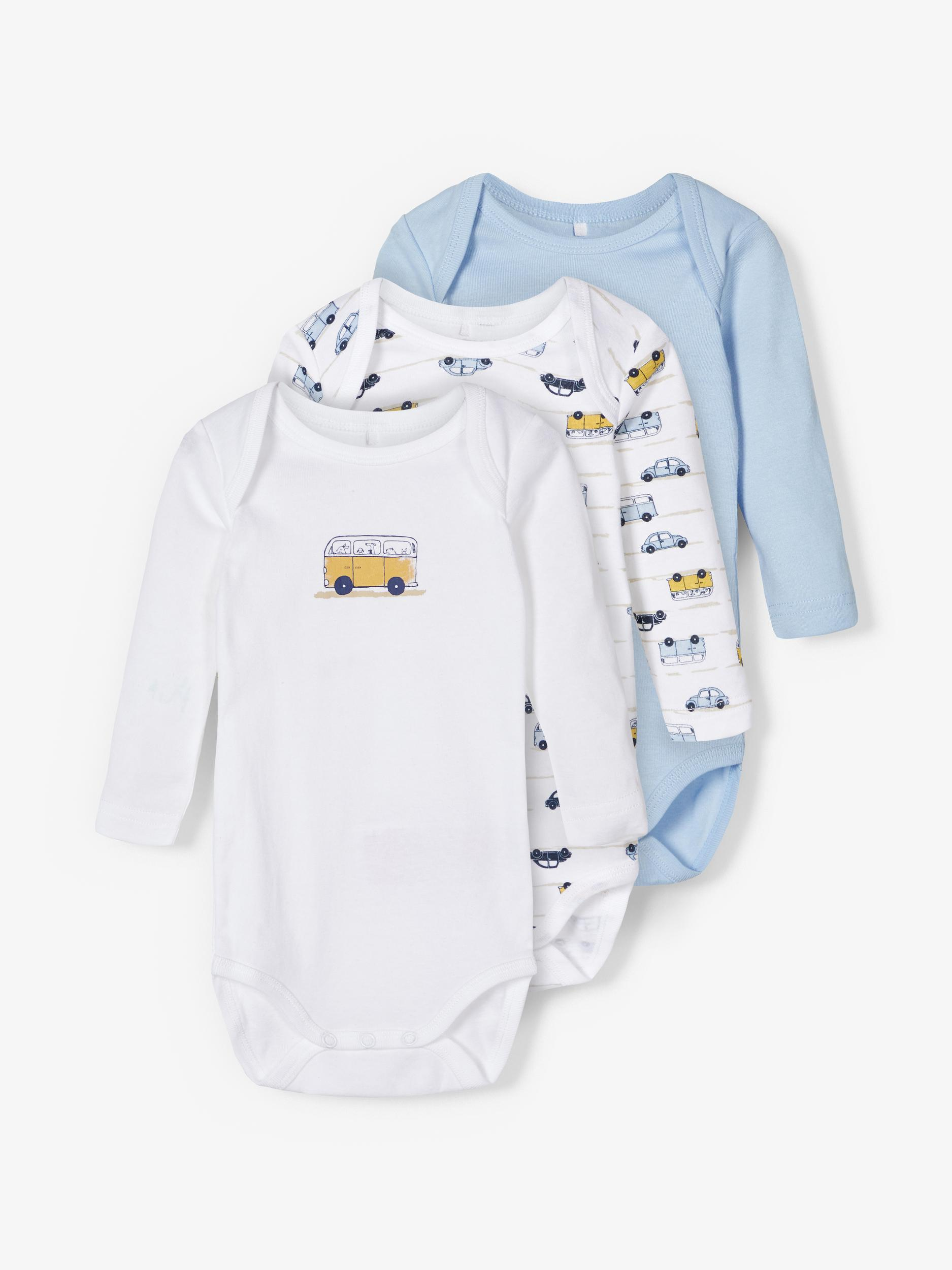 Body 3er Pack LS -Jungen-  Cashmere Blue